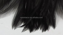 cheap wholesale 5'' inches Feathers Black for decoration