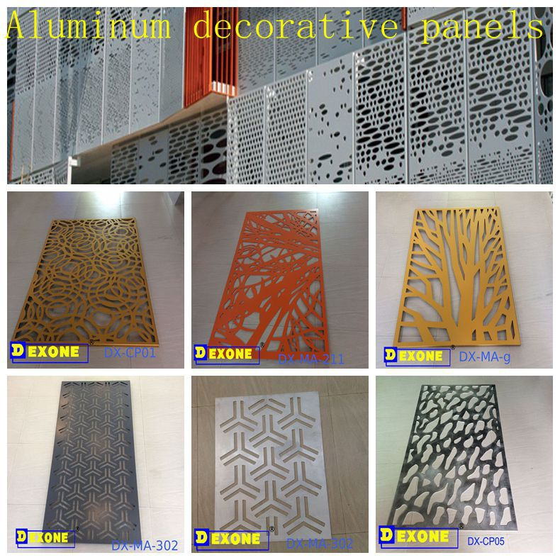 Decorative Exterior Panels : Metal aluminum perforated panel for building facade wall