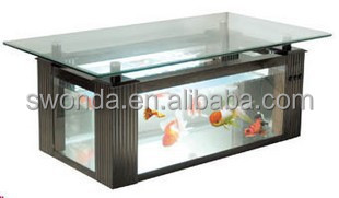 36 Gallon Aqua End Table Aquarium Fish Tank