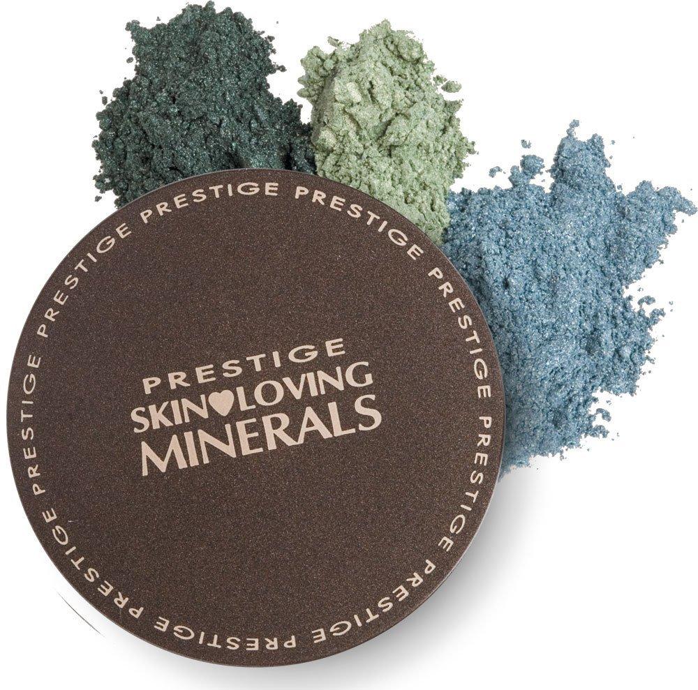 Prestige Cosmetics Skin Loving Minerals Shimmering Trios Mineral Eye Shadow Dust Emerald 5.4g by Prestige Cosmetics