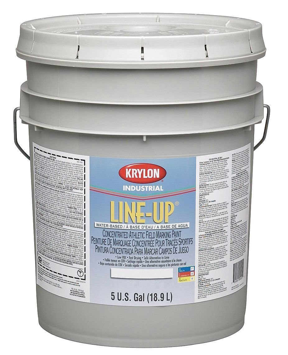 Krylon - K52130113-20 - Black 1:1 Concentrated Athletic Field Marking Paint, Water Base Type, 5 gal.