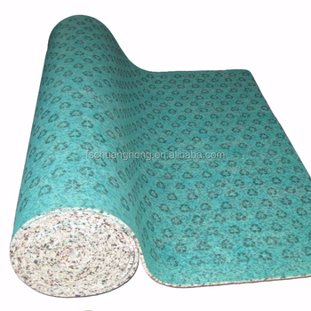 comfortable silver latex carpet foam underlay trim