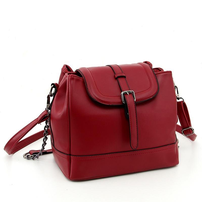 927bdfbf5ff Get Quotations · Korean Vintage Chain Crossbody Bucket Bag 2015 Women  Leather Handbags Spain Desigual Bag Sac A Main