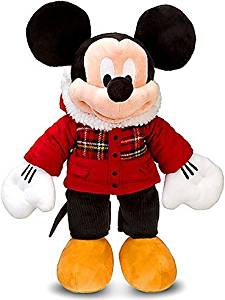 Disney Exclusive 18 Inch Deluxe 2011 Plush Holiday Plaid Mickey Mouse