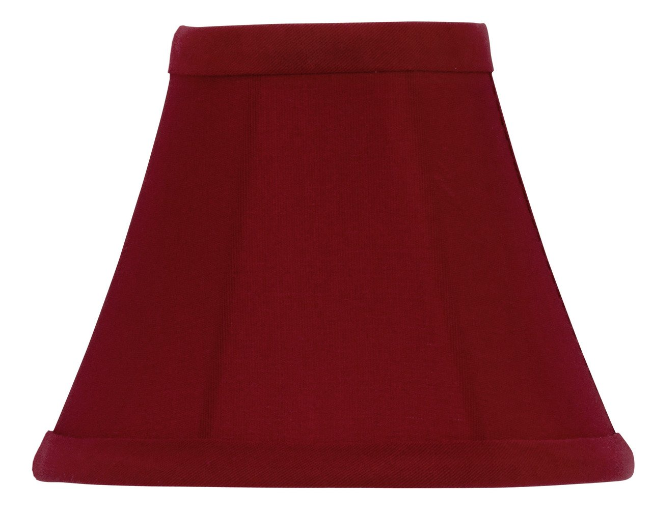 Upgradelights 5 inch Red Dupioni Silk Chandelier Shade Mini Clip on Bell Shades (ui15)