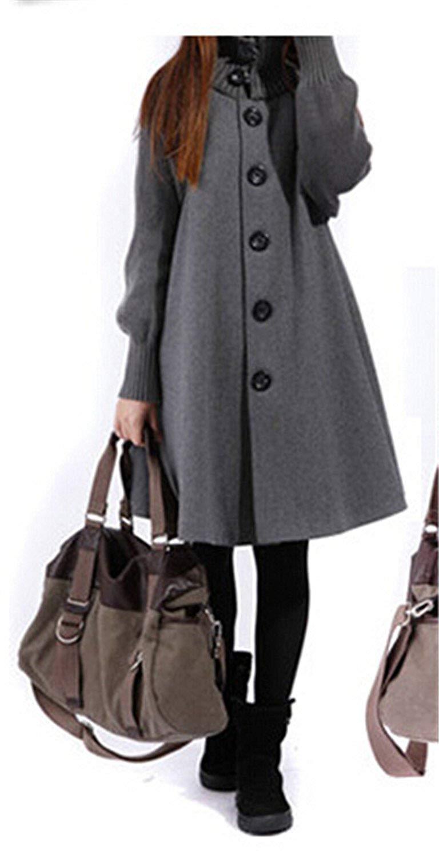 fc90097a81803 Get Quotations · Stevenurr Popular Outwear Coat Abrigos Mujer Autumn And  Winter Cloak Outerwear Women Wool Coat Long Maternity