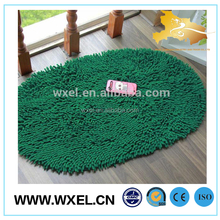 luxury round mat microfiber chenille bath rug table mat
