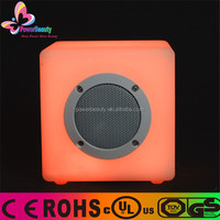 2015 brand Most hot sale led light cube Bluetooth speaker with patent design for HK fair