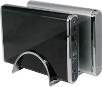Aluminum 3.5 inch hard drive disk enclosure usb 2.0 to IDE +SATA