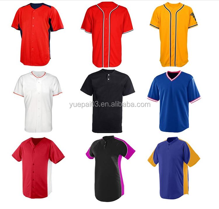 Personalizzato Il Vostro Proprio Disegno di Stampa Shirt Da Baseball Migliore usura squadra di Tutte Le dimensioni di Vendita button Completa Prezzo A Buon Mercato Baseball jersey