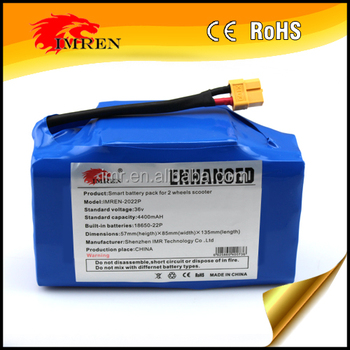 36V 4.4Ah 4400mAh Li-ion battery 18650 10S2P electric 2 wheel balancing scooter