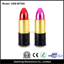 lovely lipstick shape memory stick 2.0 ,China Factory Price usb memoria stick pen drive