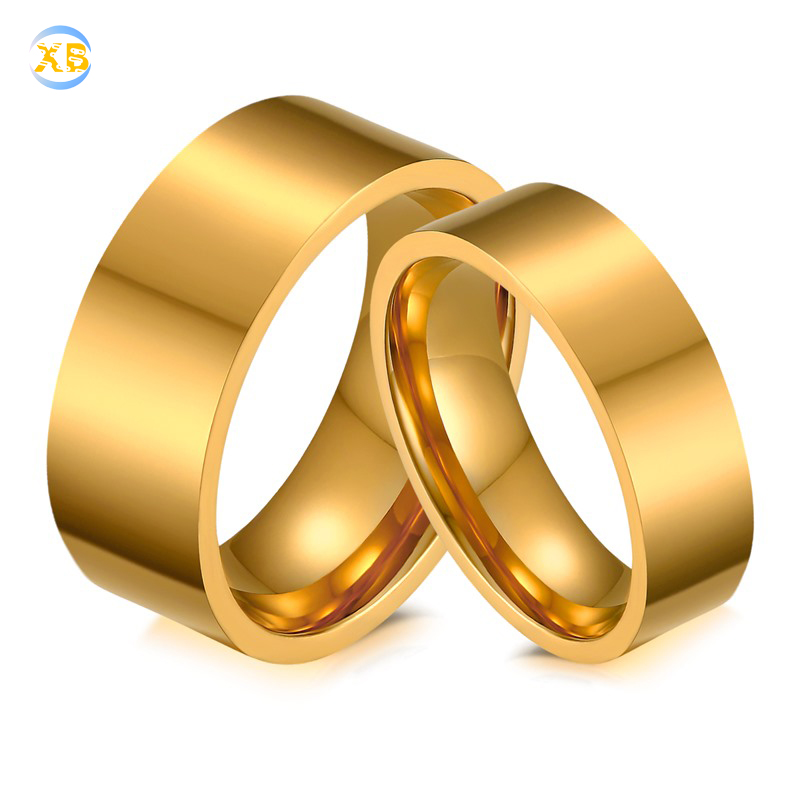 Kalen Lovers Wedding Bands Cubic Zirconia Rings Gold Stainless Steel Wave Pattern Rings Fit Women Men Couple Promise Jewelry To Assure Years Of Trouble-Free Service Wedding Bands Back To Search Resultsjewelry & Accessories
