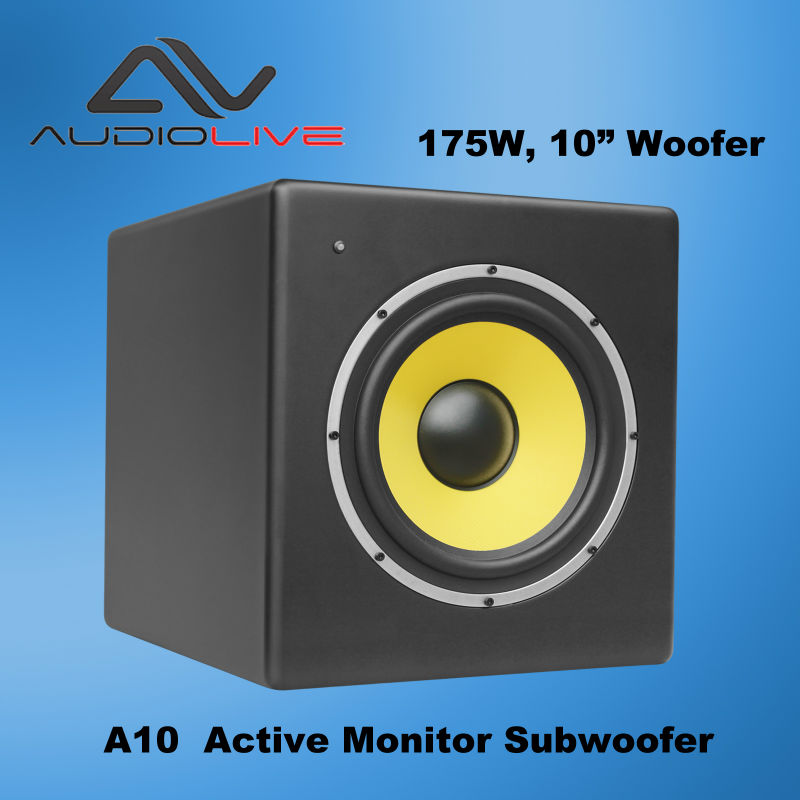 high quality and cheap Active subwoofer with wooden cabinet texture painted finish made in China