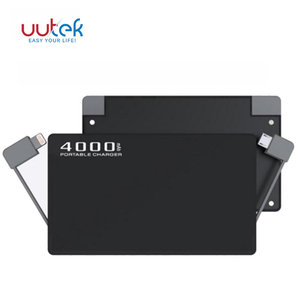 4000mah mini power banks ultra thin power bank for iPhone for SAMSUNG for Huawei UUTEK RSK5