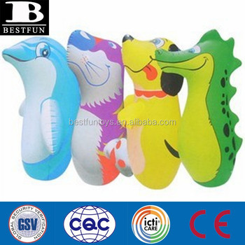 Dinosaure Inflatable Punching Bags Custom Kids Animal Shape 3d Bag Child Taekwondo Bop Toys