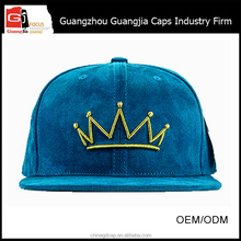 Guangzhou OEM Factory Good Embroidery Suede Baseball Cap Snapback Cap for Wholesale