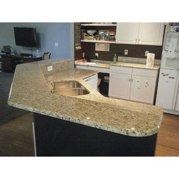 Hot Sale Brazil Gold Giallo Ornamental Granite Kitchen Countertop