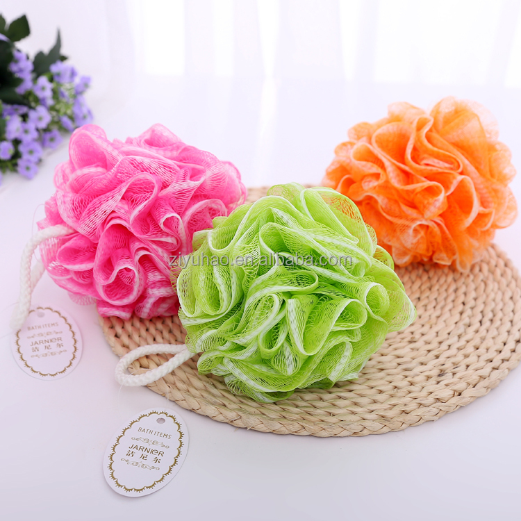 Promotional Colorful Soft Mesh Sponge,Mesh Shower sponges,Bath Flower