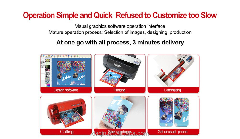 With 3500 phone templates custom sticker printing machine for mobile skin sticker decal