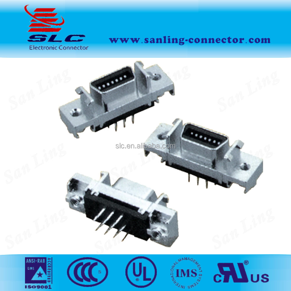 D Sub Soldering Type Scsi 14pin Female Connectorsdip Straight Buy To Rj45 Wiring Diagram Scsipin Header Connectorscsi Male Connector Product On