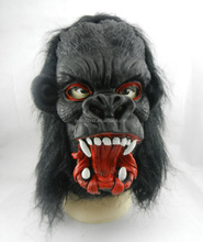 Halloween party costume rubber animal head chimpanzee mask