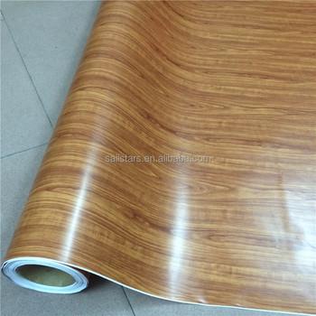 Kayu tekstur vinyl sticker untuk laptop lantai dapur furniture mobil sticker