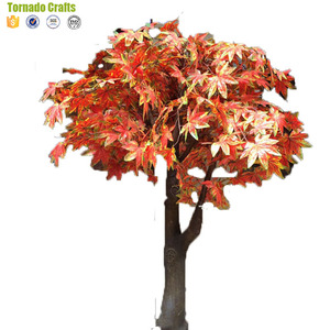 2018 Tornado crafts life size Orange artificial trees japanese maple tree for outdoor decor