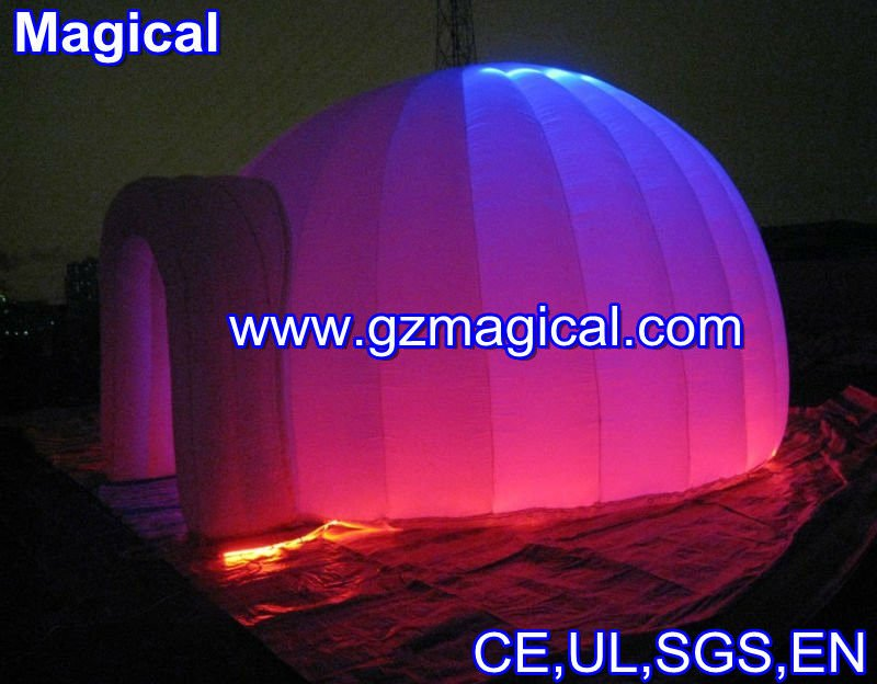 oxford fabric white small inflatable LED party dome