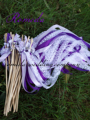 Style D New Arrived 3 Ribbons stick wedding wands with lace Dark Light purple Ribbon Birthday