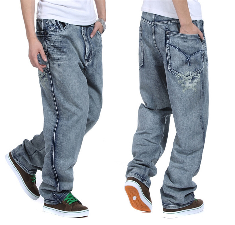 8c9f7f3eed7 Get Quotations · European And American Mens Baggy Jeans Big Size 30 32 34  36 38 40 42 44