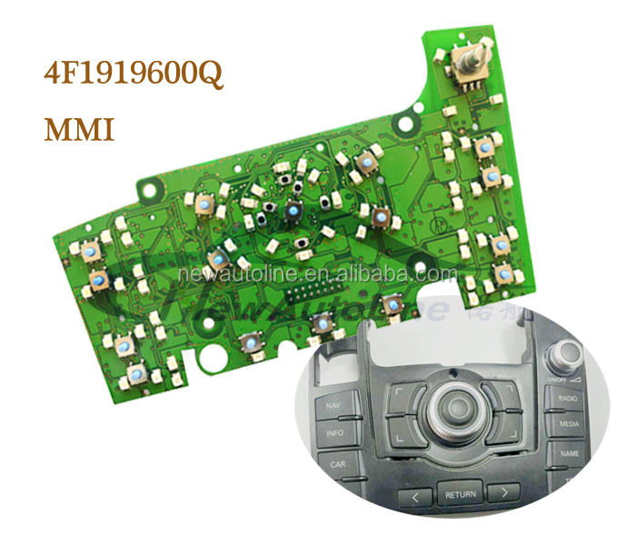 car radio accessories for OEM 4F1919600Q Q7 multimedia interface control board with GPS Navigation NAL-MMI001