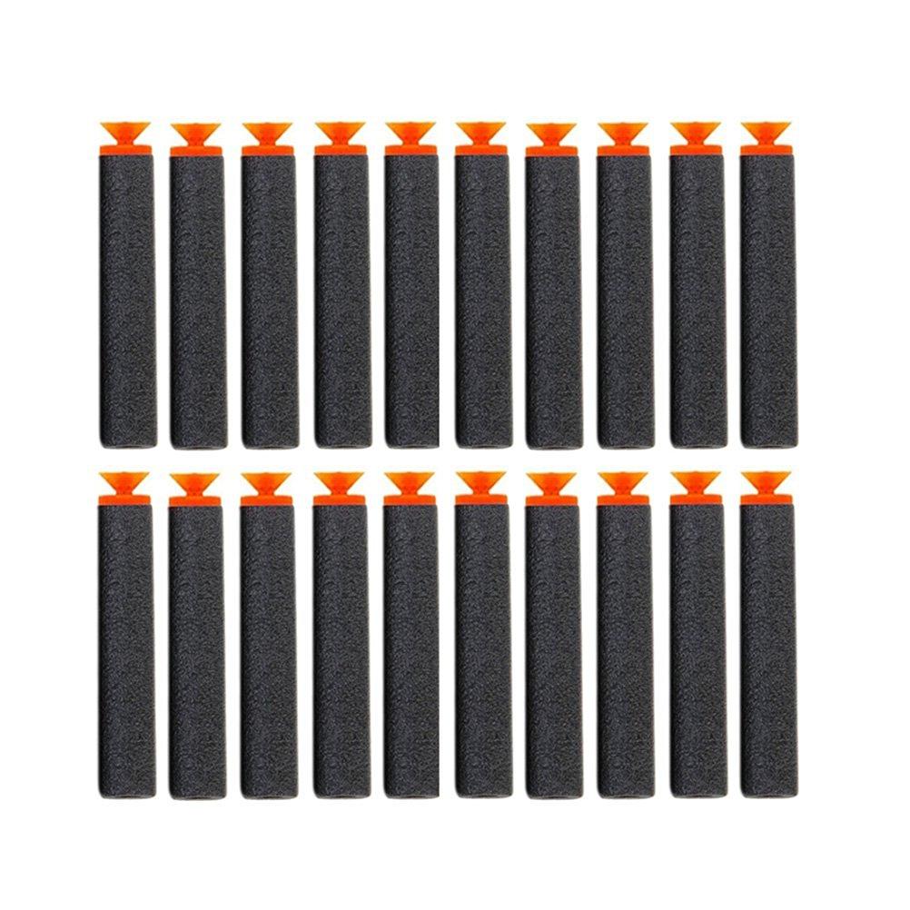 NUOLUX Foam Darts Suction for Nerf Blaster Toy Gun (Black)-100pcs
