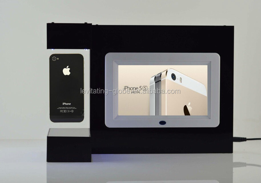 Digital photo frame with floating display, levitating platform,New creative advertising ideas.