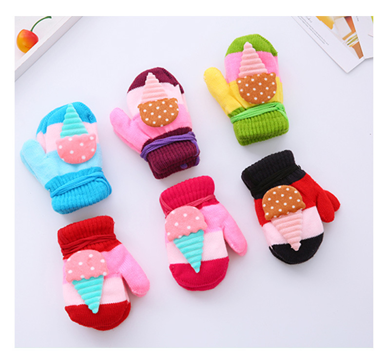 1-4 years Children's cheap winter knit gloves baby knitted mittens baby hand gloves