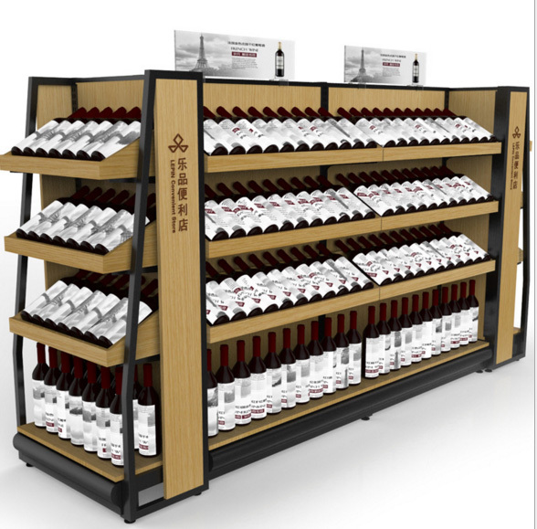 wine island merchandiser for brandy whiskeytequila vodka gin