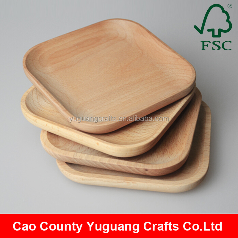 2016 Handcraft Unfinished Beech Wood Small Wooden Food Trays