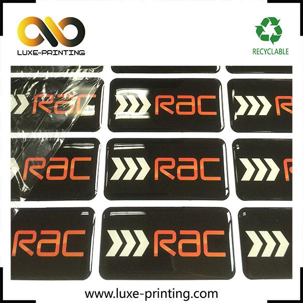 Fast lead time custom printing brand logo plastic sticker 3d labels