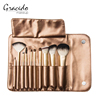 10 Piece Professional Cosmetics Foundation Makeup Brush Set Kits with cosmetic bag