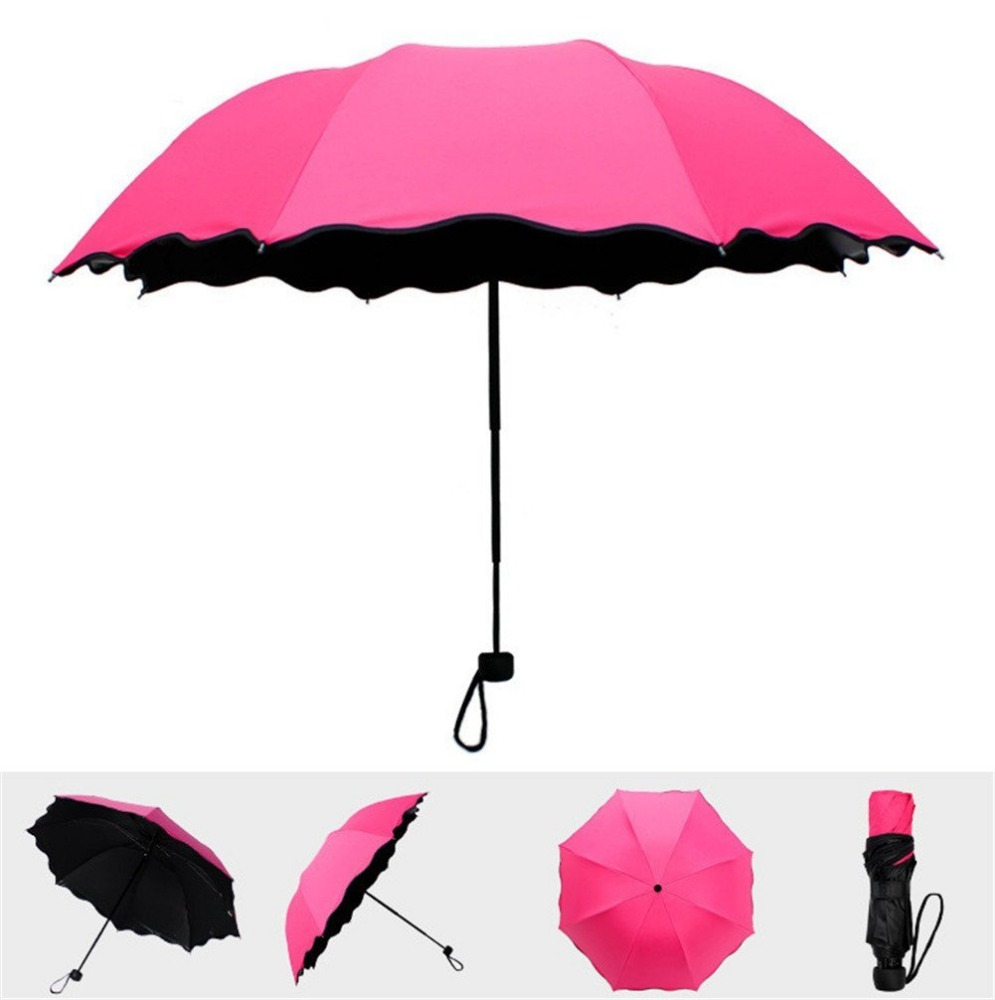 Meets Water Flowers Appear Solid Color Womens Girls umbrella