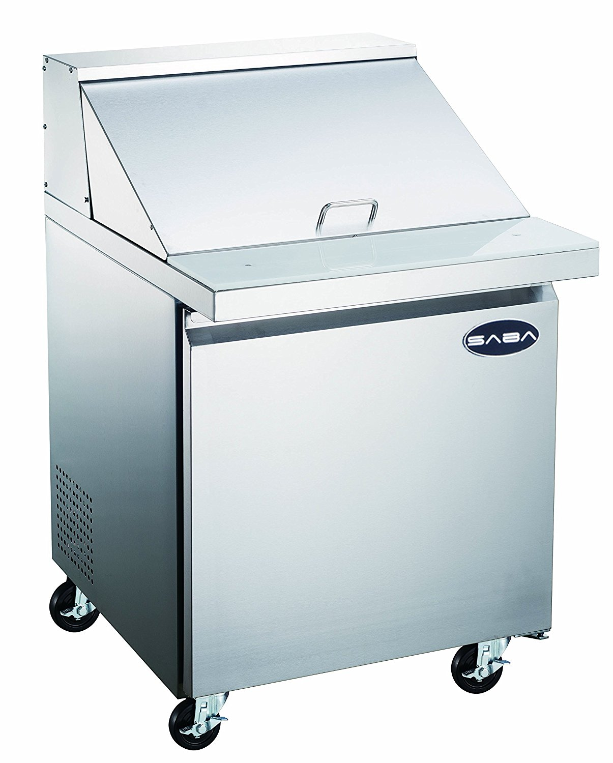 Heavy Duty Commercial Stainless Steel Mega Prep Table Refrigerator Cooler 1 Door 27""
