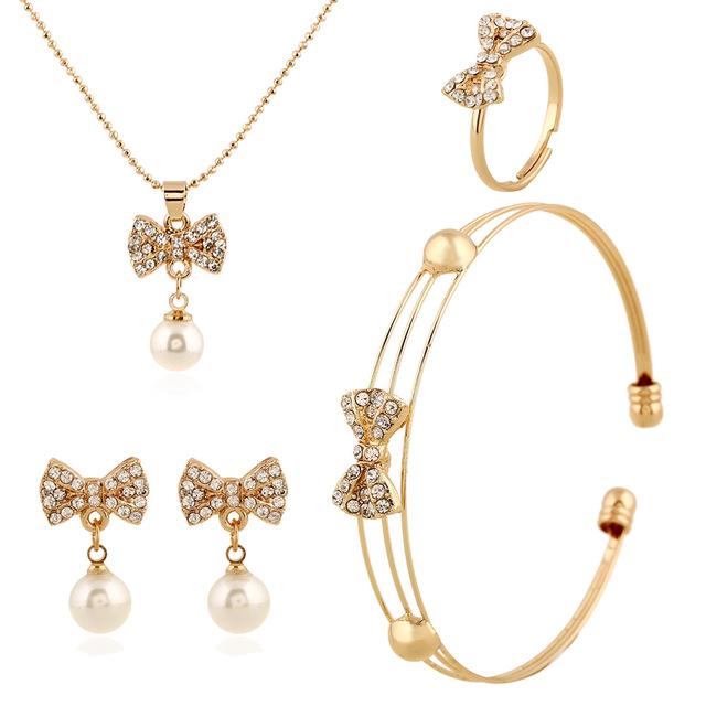 286a4758139 2016 New femmes accessoires de mariage perles africains ensemble de bijoux  Costume 18 K plaqué or ...
