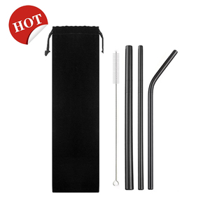 Svin Amazon Hot Sale Straight and Bent Custom Stainless Steel Drinking  Metal Straw