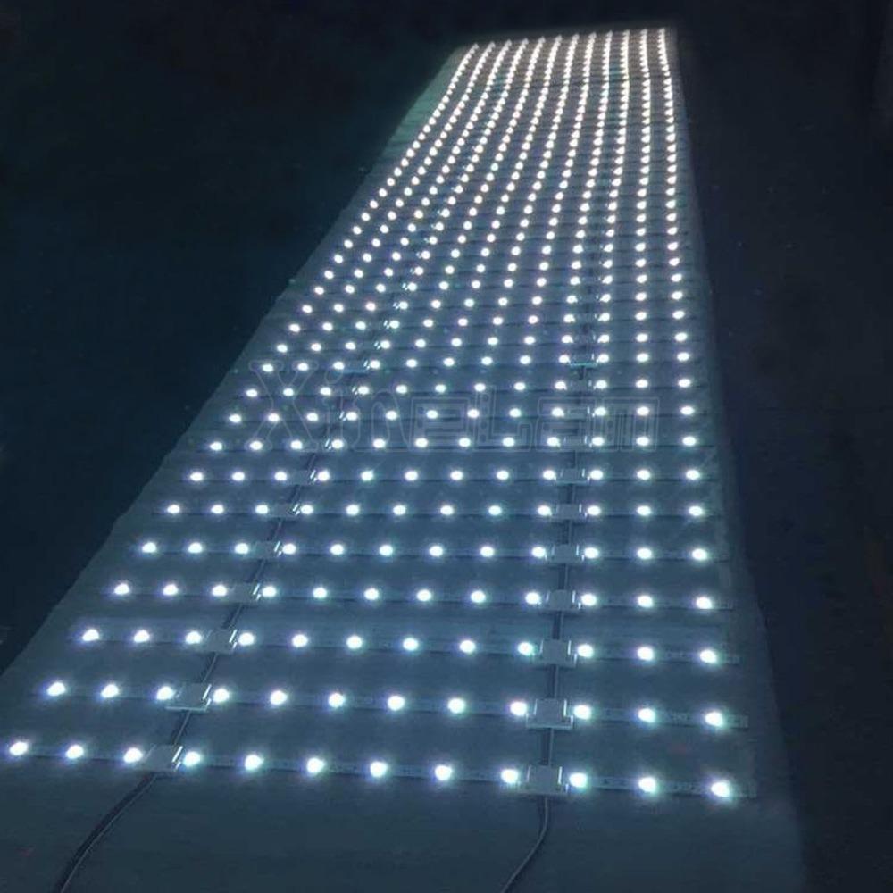 led Grid/Lattice/Curtain/Matrix/Net/web/sheet led backlit light for advertising box