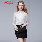 Womens lace Button Down Turn-down Collar Tops Ruffle Cap Sleeve Tie Knot Chiffon Summer Shirt Blouses