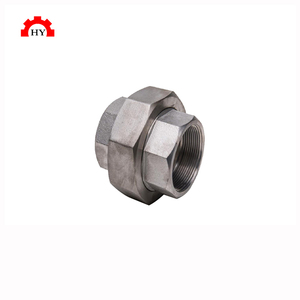 High quality stainless steel 3000lb forged fittings screw ss316 pipe union