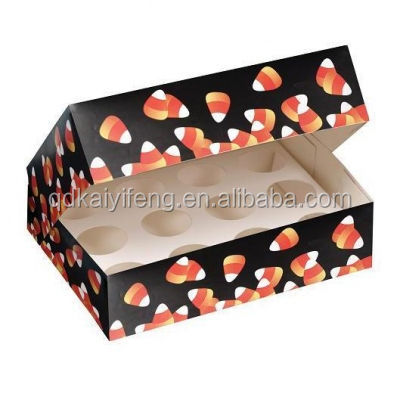 customzied blackcard paper with netto cup cake packaging box