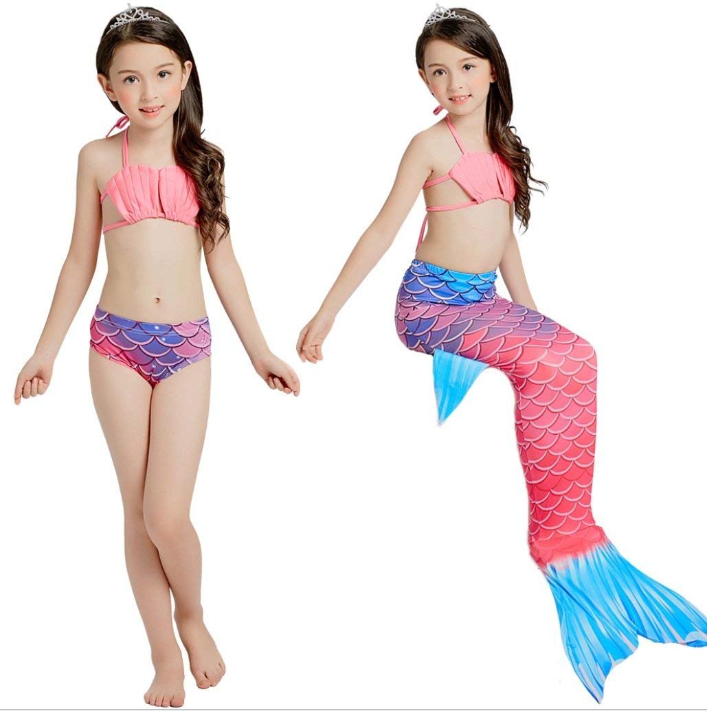 dcbda85236 Get Quotations · FXFAN Mermaid Children s Swimsuit Girls Bikini Mermaid  Swimsuit Girls Split Swimsuit CUIYAN