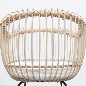 Eco-friendly wicker baby bassinet baby crib