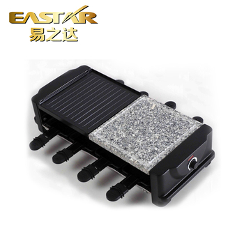 1200 w Elektrische raclette party grill/barbecue/raclette kaas met 8 mini non stick pannen